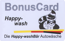 Die Happy Wash-Bonuskarte